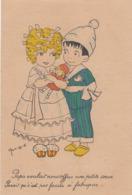 CPA (illustrateur)    MONIQUE Papa Voulait Nous Offrir Une Petite Soeur - Künstlerkarten