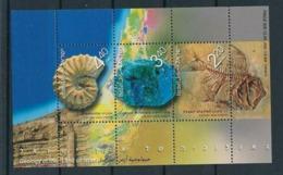 Israel 2002 Minerals Minéraux Prehistory Prehistoire Fossil Fish Ammonite MNH - Minéraux