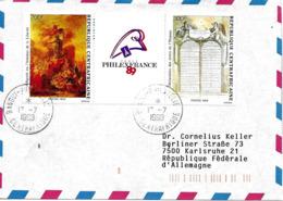 R. Centrafricaine Vers Allemagne 1990 Lettre, Cover, Brief. - Franz. Revolution