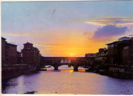 Firenze. Tramonto Sul Ponte Vecchio. VG. - Firenze (Florence)