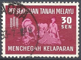 Malayan Fed., 1963 FAO, 30s Dk Car & Lilac Rose # S.G. 33 - Michel 33 - Scott 112  USED - Federation Of Malaya