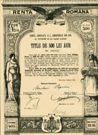 RENTA ROMANA: 4 1/2% Renta Unificata De 1913 - Unclassified