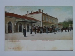 Gorizia 195 Gorz Gorica Stazione Ferroviaria Meridionale 1905 Ed Jerkic Tram Di Carrozza Allenatore Sud Bahnhof - Gorizia