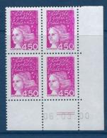 """FR Coins Datés YT 3096 """" Marianne De Luquet 4F50 Rose """" Neuf** Du 27.08.98 - Ecken (Datum)"""