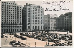Chile Postcard Sent To Denmark 24-7-1949 (2643 Santiago Plaza De) - Cile