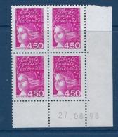 """FR Coins Datés YT 3096b Type II """" Marianne De Luquet 4F50 Rose """" Neuf** Du 06.03.00 - Ecken (Datum)"""