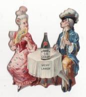 Chromo   VICHY LARDY   Couple, Bouteille D'eau, éventail      11 X 9 Cm - Autres