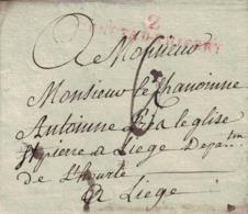 Pli De Château-Thierry => Liège. Livraison De Vins à Hognoul Chez Mr Florenville Pour Le Chanoine Antoine De Liège. 1808 - 1830-1849 (Independent Belgium)