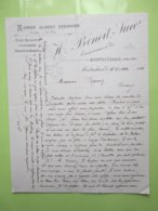 Maison ALBERT PERDRIER - H.Benoit, Succr à MONTRICHARD (41) Lettre Du 17/10/1900 Signé - Alimentos