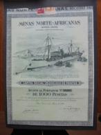 MAROC - BENI-ENZAR 1956 - MINAS NORTE-AFRICANAS - ACTION DE 1000 PESETAS - BELLE DECO - Shareholdings