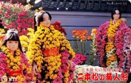 JAPON. The Dolls Of Chrysanthemum Festival In Nihon-Matsu City. 09/1993, JP-411-210 C. (138) - Japón