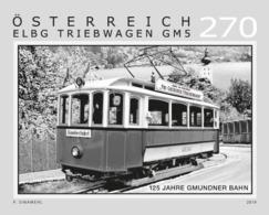 Austria 2019 - 125 Years Of The Gmunden Tramway Black Proof Mnh - 1945-.... 2ª República