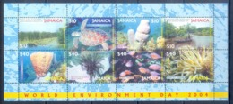 O80- Jamaïque Jamaica 2004 World Environment Day. Fish Plants. Tree. Flowers. - Meereswelt