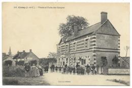 41-CROUY-Mairie Et L'Ecole Des Garçons...1916  Animé - Autres Communes