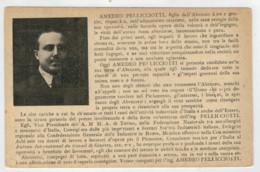 C.P.  PICCOLA     CARTOLINA  DI  PROPAGANDA  ELETTORALE  DEL  PASSATO  DI AMEDEO  PELLICCIOTTI    2  SCAN    (VIAGGIATA) - Italy