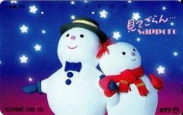 JAPON. Sapporo - Snowman Family. 12/1991. JP-431-039 B. (120) - Japón