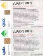Venezuela, CAN2-0887, Reverón The Wizard Of Light, Cocoteros En La Playa (2ª Ed)  (4/6), 2 Scans.  2 Different Chips - Venezuela