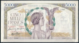 °°° FRANCE - 5000 FRANCS 14/8/1941 °°° - 1871-1952 Frühe Francs Des 20. Jh.