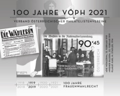 Austria 2019 - 100 Years Of Women's Suffrage In Austria Black Proof Mnh - 1945-.... 2ª República