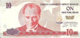 TURQUIE 10 NEW LIRA 2005 AUNC P 218 - Turchia