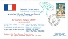 LCTN58/2 - VOYAGE 1er MINISTRE EN POLYNESIE 23/10/1985 POUR LE TIR D'ESSAI NUCLEAIRE HERO - Concorde