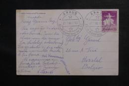 DANEMARK - Oblitération Du Congrès Espéranto De Aarthus En 1960 Sur Carte Postale Pour La Belgique - L 46901 - Cartas