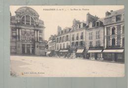 CPA - 35 -  Fougères - Place Du Théâtre - Fougeres