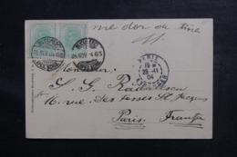 ROUMANIE - Affranchissement De Bucarest Sur Carte Postale Pour La France En 1904 - L 46902 - 1881-1918: Charles Ier