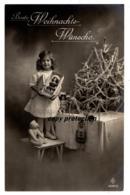 Beste Weihnachts Wünsche, Weihnachten, Spielzeug, Puppe, Teddy Bär, Weihnachtsbaum, Alte Postkarte 1919 - Weihnachten