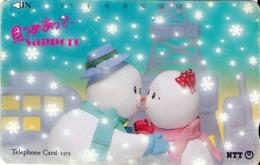 """JAPON. """"Discover Sapporo"""" (Snowman Couple). 01/1993. JP-431-090 B. (121) - Japón"""
