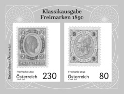 Austria 2019 - Freimarken 1890 Black Proof Mnh - 1945-.... 2ª República
