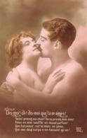 Série De 2 CPA : Dis Moi Que Tu M'aimes - Baiser Couple Amoureux Nu Amour Passion Tendresse Romantisme Nude érotique - Couples
