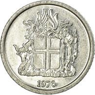 Monnaie, Iceland, Krona, 1976, TTB, Aluminium, KM:23 - Islande