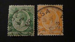 British East Africa - Kenya And Uganda - 1922/27 - Mi:EA 6,22 Sn:EA20, 25, Yt:EA 2A,6, O - Look Scan - Kenya & Uganda