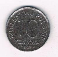 10 FENIGOW 1917 F (geplande Koninkrijk Polen)  POLEN /8608/ - Polen