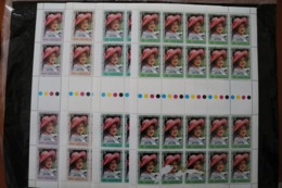 Anguilla 394-397 Queen Mother 80th Birthday Full Sheets Of 2o With Traffic Lights  Low Value Some Scraped MNH  1980 A04s - Anguilla (1968-...)