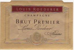 Etiquette Champagne BRUT PREMIER Louis Roederer à Reims (51) - Champagne