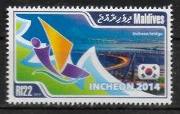 MALDIVES  N°  ( 2014 )     * *  Planche A Voile - Briefmarken