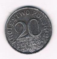 20 FENIGOW 1917 F (geplande Koninkrijk Polen)  POLEN /8609/ - Polonia