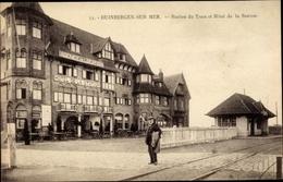 Cp Duinbergen Sur Mer Westflandern, Station Du Tram Et Hôtel De La Station - Autres