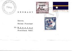 Nauru Vers Allemagne 1972 Lettre, Cover, Brief. - Nauru