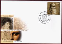"Moldova 2019 FDC ""Leonardo Da Vinci (1452-1519).Personalities Who Changed World History."" Quality:100% - Moldova"