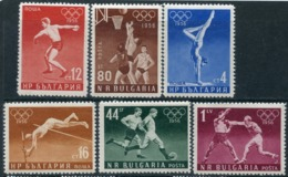 Y85 Bulgaria 1956 996-1001 1956 Olympic Games - Melbourne, Australia - Verano 1956: Melbourne