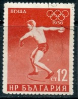 Y85 Bulgaria 1956 997 1956 Olympic Games - Melbourne, Australia. Discus Throw. Athletics - Leichtathletik