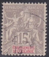 French Oceania, Scott #9, Used, Navigation And Commerce, Issued 1892 - Oceania (1892-1958)