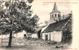 Laethem St MArtin St Martens Latem - L'Eglise Et La Ferme Du Tempelhof (animatie, Edit Albert Sugg) - Sint-Martens-Latem