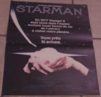 AFFICHE CINEMA ORIGINALE FILM STARMAN John CARPENTER Jeff BRIDGES Karen ALLEN 1984 TBE FANTASTIQUE - Posters