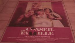 AFFICHE CINEMA ORIGINALE FILM CONSEIL DE FAMILLE COSTA-GAVRAS Johnny HALLYDAY ARDANT 1986 - Posters