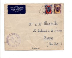 ALGERIE LETTRE AVION DE ORLEANSVILLE POUR LA FRANCE - CACHET DU 9 ème RTA 1948 - Unclassified