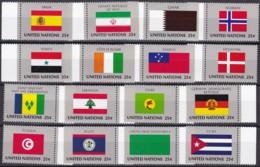 UNO-New York, 1988,  553/68,  MNH **, Flaggen Der UNO-Mitgliedstaaten (IX). - New York – UN Headquarters